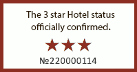 The 3 star Hotel status officially confirmed.